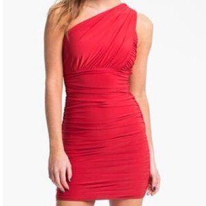 NWT Soprano red one shoulder bodycon dress